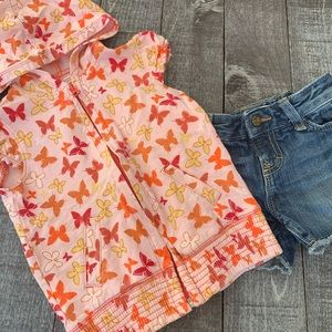 Old Navy Butterfly Hooded Short Sleeved Jacket